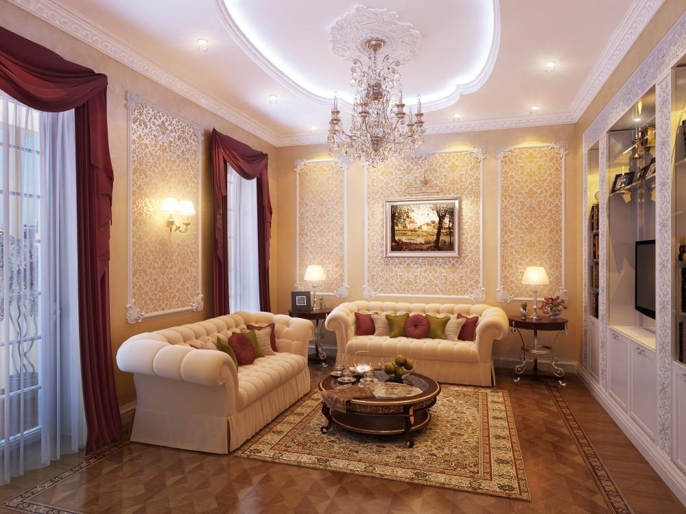 Дизайн интерьера квартир в классическом стиле фото